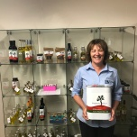 Karen McLennan with an array of outback products produce in Charleville by Sommariva